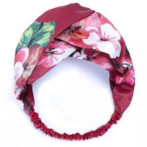 🌺 Silky Deep Red Elastic Head Wrap/Band!
